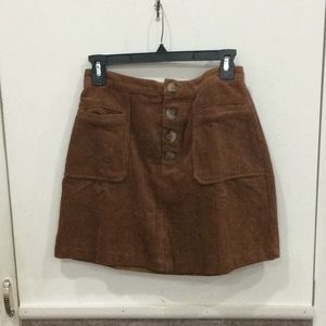 Blu pepper day to day brown corduroy skirt